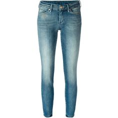 7 For All Mankind Skinny Jeans ($163) ❤ liked on Polyvore