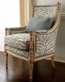 blue and gold zebra chair; yet again for my Champagne Room hehe