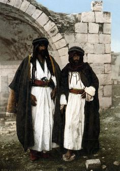 """""""Bédouins nomades de Siloé""""  These two men were caught on camera in the Palestinian village of Siloam. Now part of East Jerusalem and known as the district of Silaw village. 
