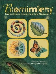 """Biomimicry: Inventions Inspired by Nature: """"Read the book to find out why the famed Japanese bullet train resembles a kingfisher's long pointed beak, or how the scales on the back of a Brazilian beetle sparked the idea to channel light in photonic computers. Robots fashioned to move as snakes are used to find victims buried by earthquakes.""""  Ideal for children too."""