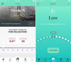 Most period-tracking apps SUCK. They're either amazing but too pink, have all the features you want but are too complicated, or beautiful but too simple. I've downloaded every menses app under the sun — and finally found one that I liked. Dot is one of the most well-designed and easy-to-use period/fertility apps I've ever seen. I like it because it a) is not pink, b) easily tracks your menstrual cycle, sexual activity, mood, and symptoms like cramps, AND c) calculates your chance of…
