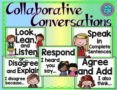 Collaborative Conversations Posters! Perfect for partner talk.