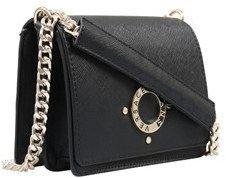Versace Ee1vqbbu3 E899 Chain Square Structured Bag- Ring Signature Detail Black Shoulder Bag.