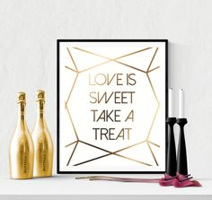 Sweet Treat Wedding Sign Printable Diamond Cut Gold | https://www.vivabop.co.uk/products/sweet-treat-wedding-sign-printable-diamond-cut-gold