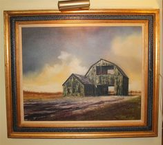 """SIGNED Hector Salas Oil Painting 24x30"""" with Lamp"""