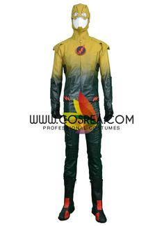 Flash The Reverse Flash Cosplay Costume