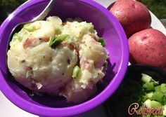Red Potato Salad - One more side to add to your Labor Day meal! It's quick and easy to make. I cut some of the calories by using low-fat mayonnaise.