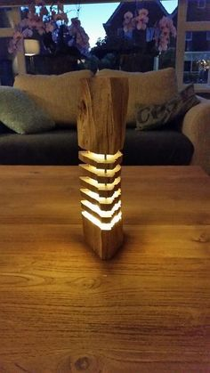 Segmented Log Lamp
