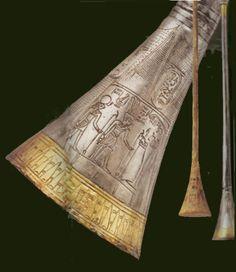 King Tutankhamun's Trumpets, Approximately 1355 to 1346 BC.