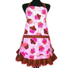 Cupcake Apron / Retro Style Hostess Apron with by ElsiesFlat, $36.00    http://www.etsy.com/listing/102426965/cupcake-apron-retro-style-hostess-apron
