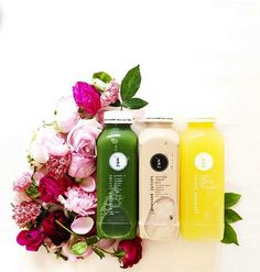 """""""Sweet, refreshing, and tangy with soft floral notes"""" would be the best way to describe our new A U T U M N Juice range, launching in all Pressed Juices stores across Australia this coming Saturday! Pressed Juices - Positively Life Changing (Photo via @milkthistles / The juices featured in the photo are from our current range and are available in store)"""