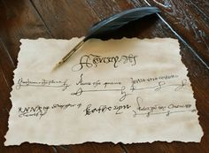 SIGNATURES OF KING HENRY THE VIII AND ALL HIS QUEENS - SUITABLE FOR FRAMING