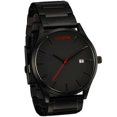 An affordable, stylish and minimalist mens watch by MVMT Watches. This black, stainless-steel timepiece flows seamlessly into any outfit.