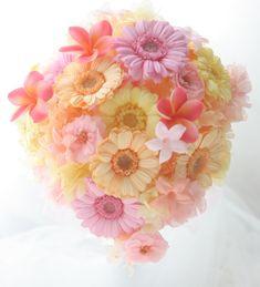 ティアドロップブーケ プリザーブドフラワーのガーベラで : 一会 ウエディングの花