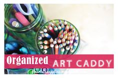 'Organize Your Art Supplies {Yet Another Use for Mason Jars}...!' (via Fleuriste Craft Supply)