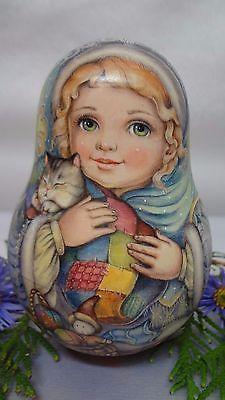 1 вида искусства акварель Roly Poly матрешка русского автора кукла lyubavushka