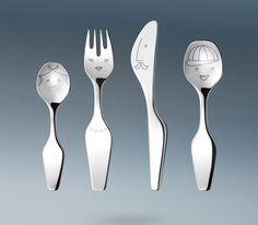 Alfredo The Twist Family Cutlery (4 pcs.) by Georg Jensen
