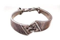 Vintage Designer Bracelet Sterling Silver 925 Design Bangle Spoon Signed Jewelry #DesignerJewelry