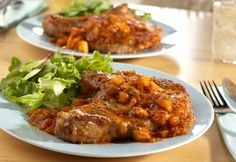 Simply delicious and ready injust 40minutes, this recipe is sure to win over your family. Picante sauce, brown sugar and apples makeordinary pork chops extraordinary.