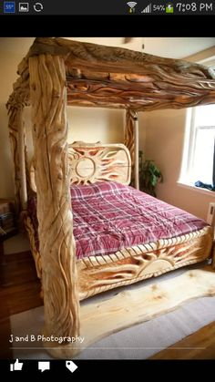 My beautiful fiancee's bed I built for her! Wood Furniture, Outdoor Furniture, Outdoor Decor, Sofa, Couch, Diy Bed Frame, Bunk Beds, Home Crafts, Inspirational Photos