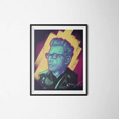 Jeff Goldblum Poster Digital Illustration Digital Print