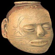 Head pot, human figure ceramics, Mississippian culture