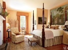 Decorating Above the Bed and Bedroom Design Ideas Photos | Architectural Digest
