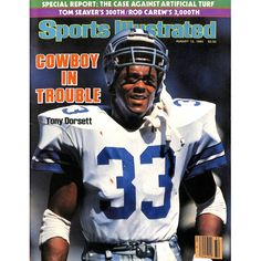Featured is a Signed Tony Dorsett Dallas Cowboys August 1985 Sports Illustrated Magazine! This magazine was signed by Dorsett and is authenticated by JSA with an Auction House Letter of Authentici Dallas Cowboys Football, Dallas Cowboys Images, Dallas Cowboys Decor, Cowboys Sign, Football Humor, Sport Football, Nba Basketball, Pittsburgh Steelers, Nfl Goat