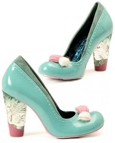 Irregular Choice  cute Tickling Loris Shoes, scarpe kawaii azzurre e rosa