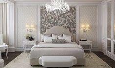 Gorgeous Beige Luxury bedroom decor with curved headboard, elegant beige bedroom decor