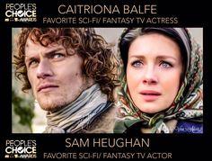 Outlander 3, Sam And Cait, Caitriona Balfe, Diana Gabaldon, Tv Actors, Sci Fi Fantasy, Sam Heughan, Ol, Claire