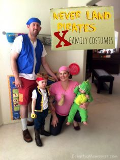DIY Family Costumes: Jake and the Never Land Pirates - Eclectic Momsense