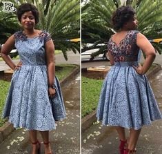 Top lace shweshwe dresses for a walk with their panions & work - pinnerial Latest African Fashion Dresses, African Dresses For Women, African Print Dresses, African Print Fashion, African Prints, South African Traditional Dresses, Traditional Outfits, African Wedding Attire, African Attire