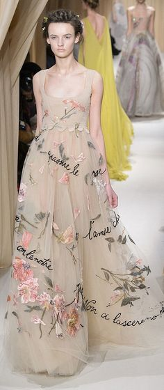 Wedding dress inspiration: Valentino Haute Couture Spring 2015 - Pin curated by http://www.thedailyfashioninspiration.com/