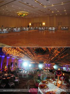 Indian wedding reception at the Gaylord Palms. Lighting by @Kaleidoscope Event Lighting. Photo by Asaad Images. #gaylordpalms #wedding