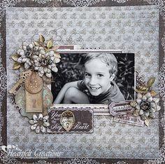 Heartfelt Creations | Cherish Memories #Layout #scrapbooking