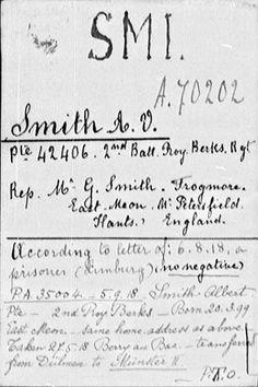 New, Free Website has Millions of World War I Prisoner of War Records