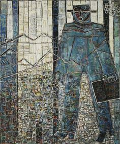 Moshe Tamir - oil on canvas,  152x128 cm