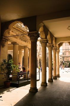 ysvoice:    | ♕ | Portico della piazza - Padova, Italy | by © sylvia-münchen