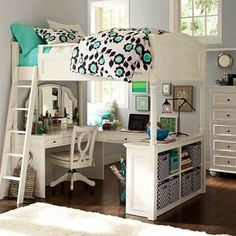 Bunk Desk | PB Teen - I so want my room to look like this!! <3