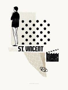 St. Vincent tour poster by Lil Tuffy