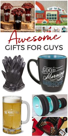 The Best Gift Ideas for Men - Creative and unique gifts for guys. #gifts #giftideas #giftsformen Unique Gifts For Men, Unusual Gifts, Gifts For Dad, Homemade Body Lotion, Kid Favorite Recipe, Gifts For Techies, Gift Guide For Men, Valentine Day Gifts, Valentines