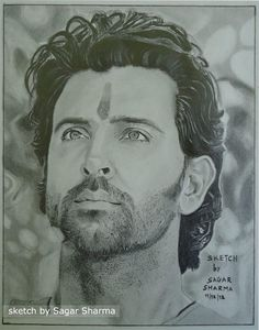 sketch by my friend - Sketching by Tejas Chauhan in My Projects at touchtalent 28180 Pencil Sketches Of Faces, Pencil Drawing Pictures, Pencil Portrait Drawing, Portrait Sketches, Pencil Art Drawings, Art Drawings Sketches, Pictures To Draw, Amazing Drawings, Realistic Drawings