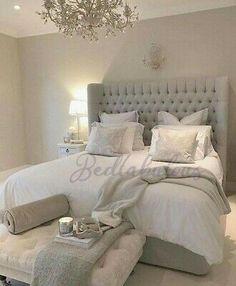 Trendy Bedroom, Cozy Bedroom, Modern Bedroom, Scandinavian Bedroom, Contemporary Bedroom, Bedroom Wall, Bed Room, Bedroom Ideas Grey, Cozy Master Bedroom Ideas