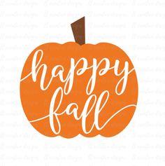 Happy Fall SVG Happy Fall Pumpkin SVG Pumpkin by LTCreativeDesigns