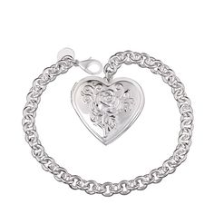Sensible Fashion Women Lady Silver Plated Crystal Bangle Love Heart Charm Bracelet Gl Available In Various Designs And Specifications For Your Selection Jewelry & Watches