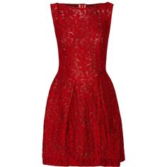 Roland Mouret Bluet embroidered tulle dress ($988) ❤ liked on Polyvore featuring dresses, red, red dress, loose fitted dresses, embroidered dress, zipper dress and red embroidered dress