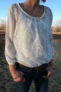 Easy lace blouse