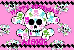 World of Pinatas - Girly Skull Personalized Poster, $16.99 (http://www.worldofpinatas.com/girly-skull-personalized-poster/)