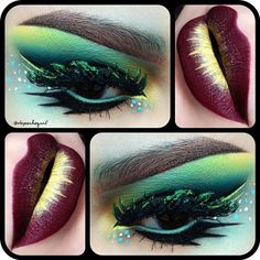 Gorgeous look. Possible Poison Ivy look - LR |  Found on Instagram, By: @Depechegurl